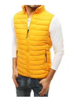 Žlutá prošívaná vesta na přechodné období pro pány