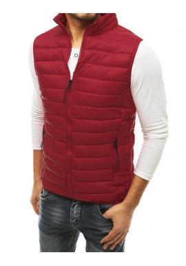 Pánská prošívaná vesta na přechodné období v bordové barvě