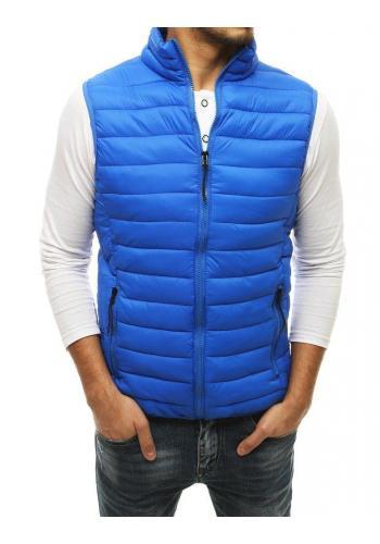 Pánská prošívaná vesta na přechodné období v světle modré barvě