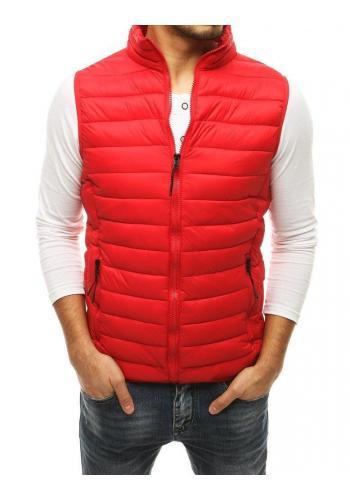 Prošívané pánské vesty červené barvy na přechodné období