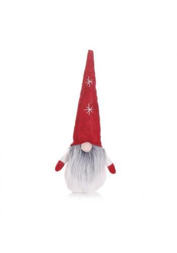 Plyšový vánoční trpaslík v červené barvě