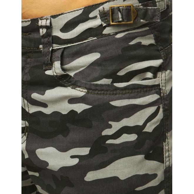 Maskáčové pánské kapsáče šedé barvy