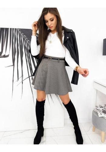 Mini dámská sukně hnědé barvy s kostkovaným vzorem