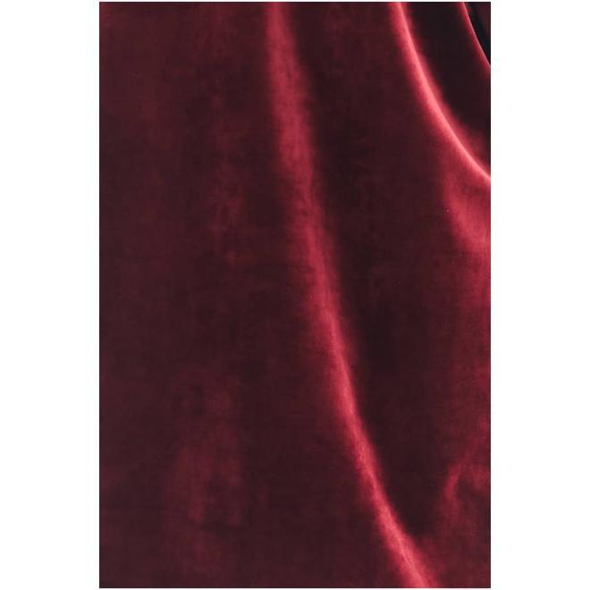 Dámská sametová souprava s ozdobným pruhem v bordové barvě