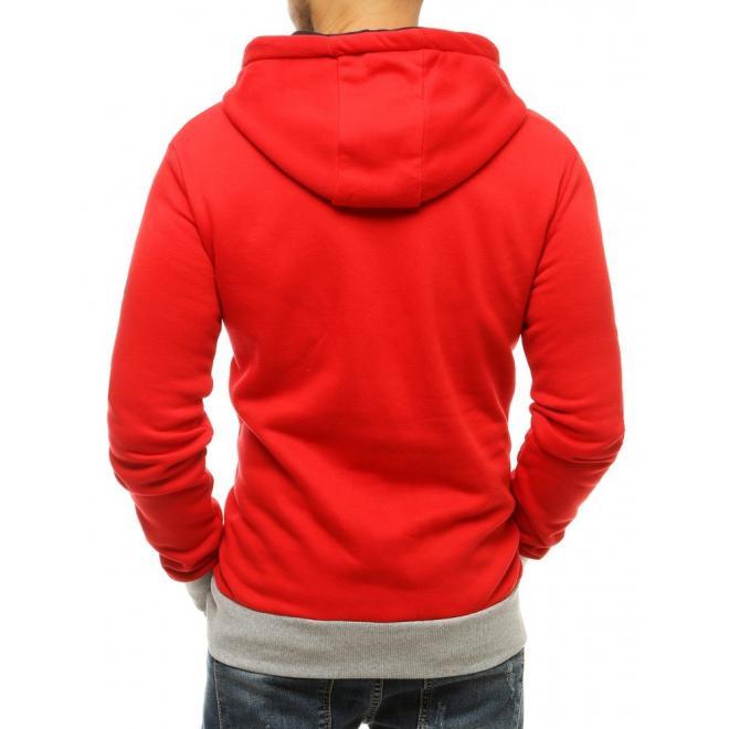 Sportovní pánské mikiny červené barvy s potiskem