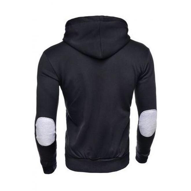 Módní pánská mikina černé barvy s kapucí