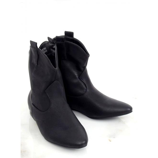 Černé lícové boty se širokým svrškem pro dámy