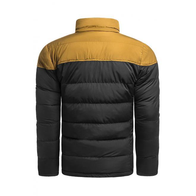 Černá zimní bunda s odepínací kapucí pro pány