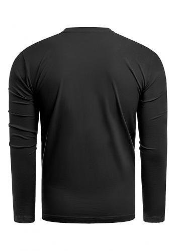 Černé bavlněné tričko s potiskem pro pány
