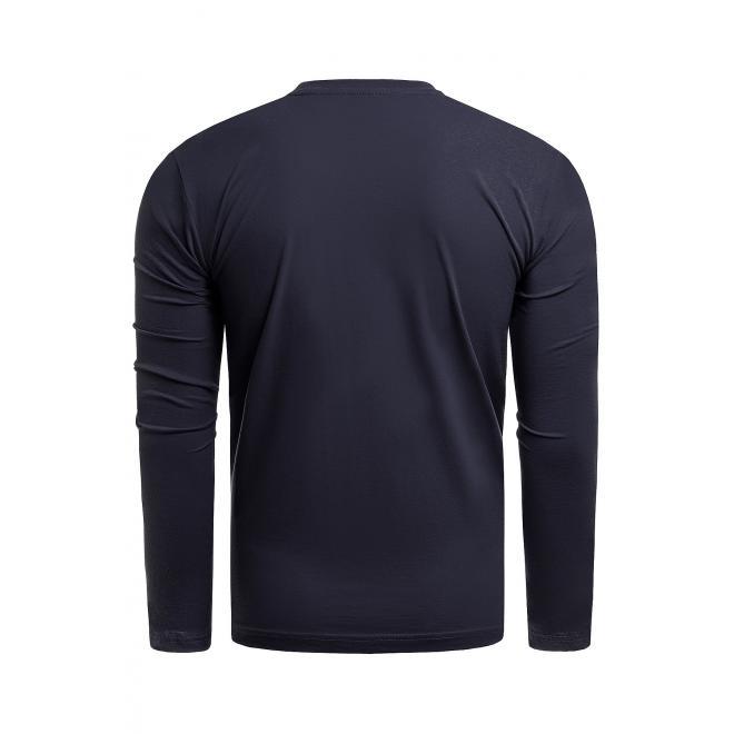 Bavlněné pánské tričko tmavě modré barvy s potiskem