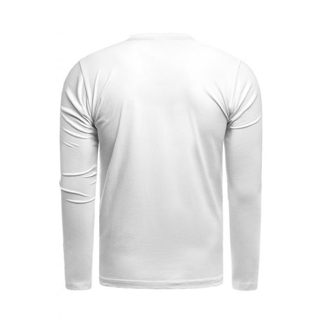 Bavlněné pánské trička bílé barvy s potiskem