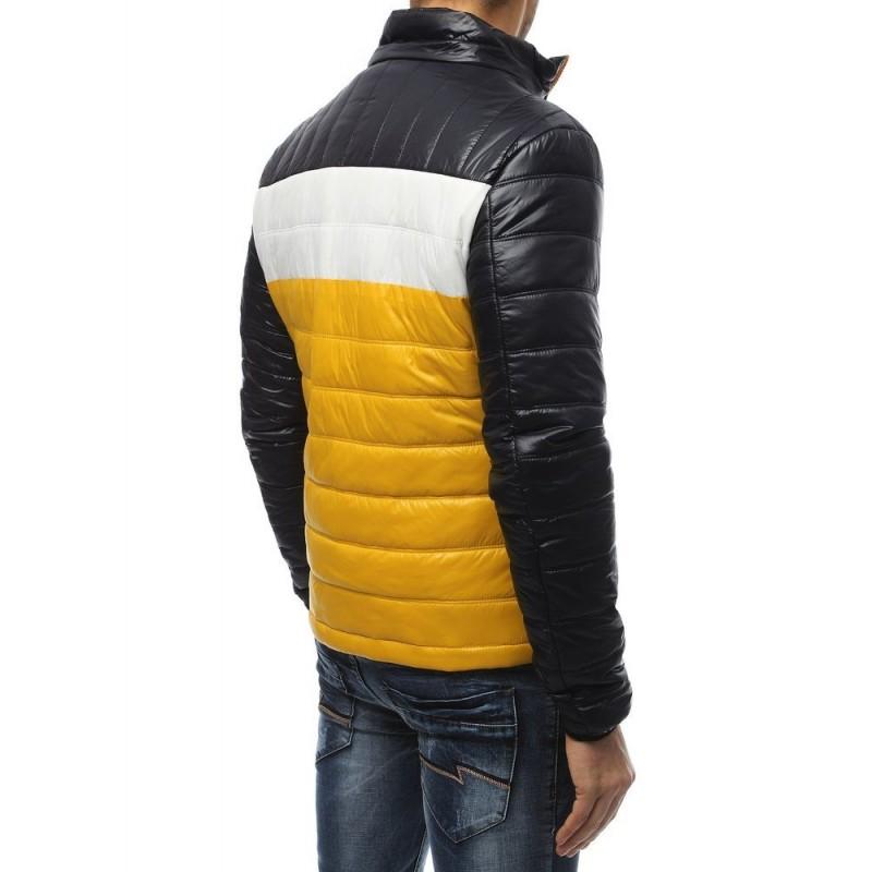 Pánská prošívaná bunda na přechodné období v černé barvě