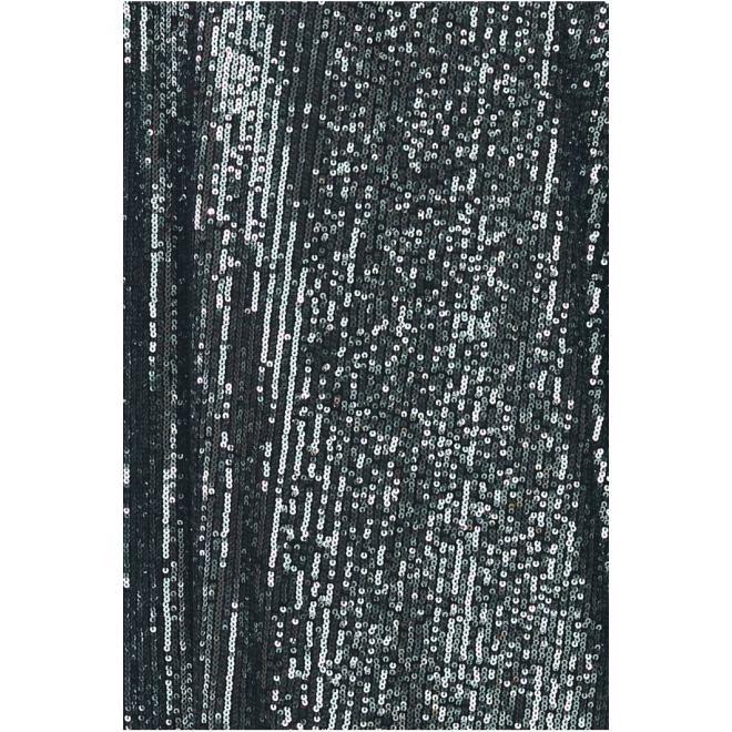 Tmavě šedé mini šaty s flitry pro dámy