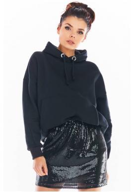 Mini dámská sukně černé barvy s flitry
