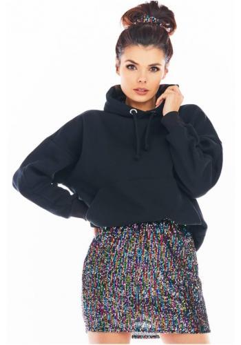 Barevná mini sukně s flitry pro dámy