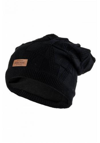 Černá módní čepice na zimu pro dámy