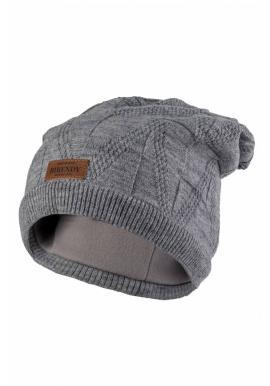 Módní dámská čepice šedé barvy na zimu