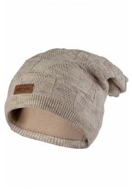 Dámská módní čepice na zimu v béžové barvě