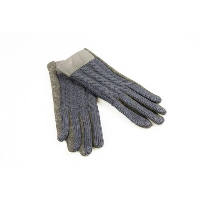 Dámské elegantní rukavice v šedé barvě