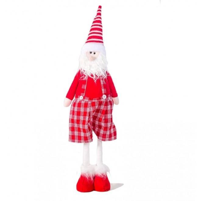 Zpívající Santa Claus v červené barvě