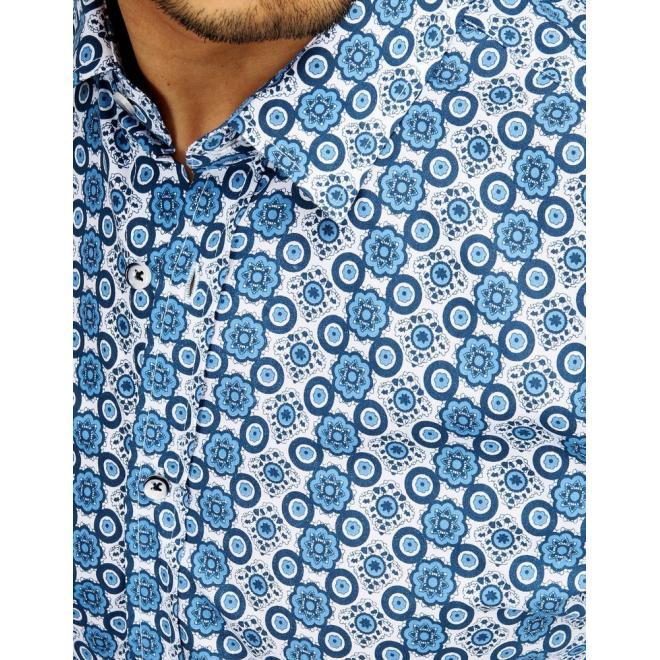 Elegantní pánská košile bílé barvy se vzorem
