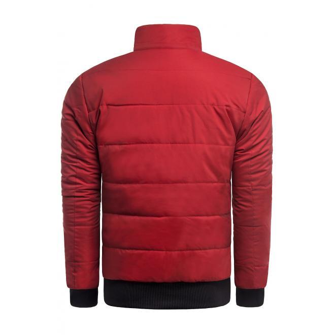 Červená zimní bunda s prošíváním pro pány