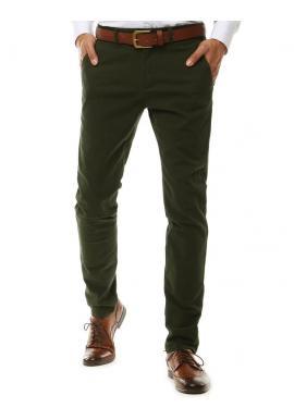 Elegantní pánské Chinos kalhoty zelené barvy