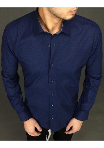 Elegantní pánská košile modré barvy se vzorem