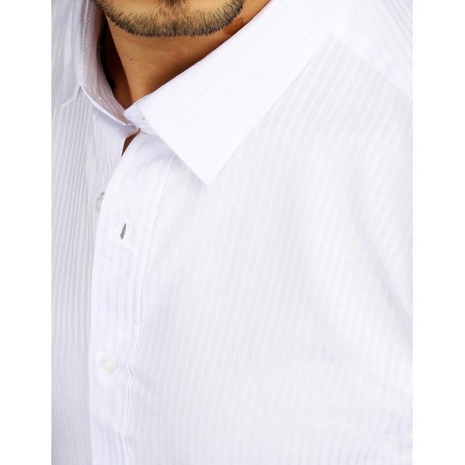 Elegantní pánské košile bílé barvy s dlouhým rukávem