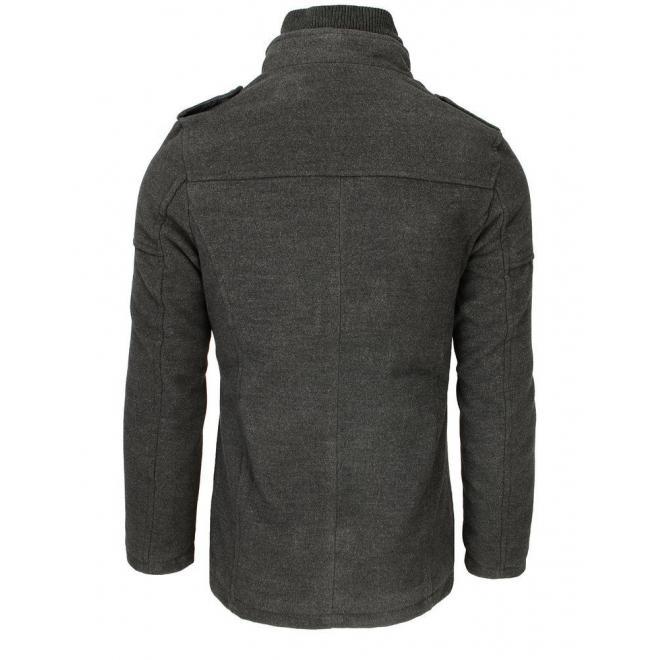 Šedý jednořadý kabát pro pány
