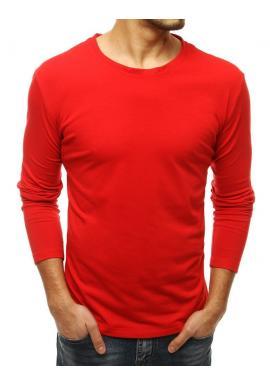 Pánské klasické tričko s dlouhým rukávem v červené barvě