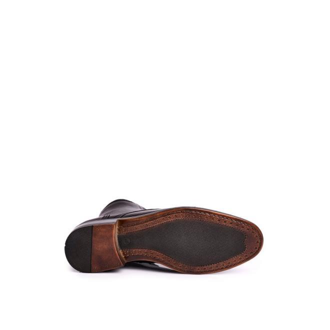 Černé elegantní kožené boty pro pány