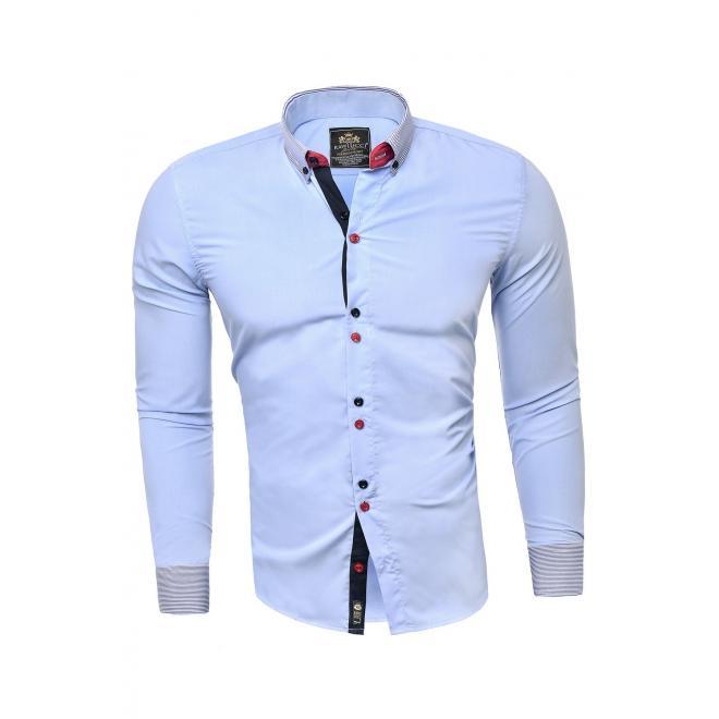 Světle modrá elegantní košile s dlouhým rukávem pro pány