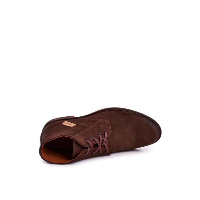 Elegantní pánské boty hnědé barvy