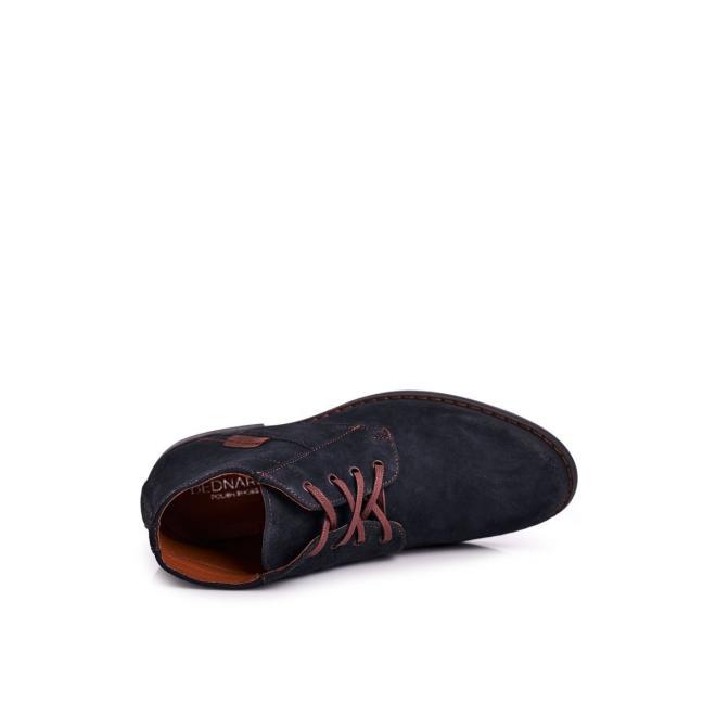 Pánské elegantní boty v tmavě modré barvě
