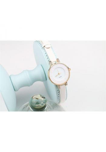 Dámské elegantní hodinky s dvojitým páskem v modré barvě