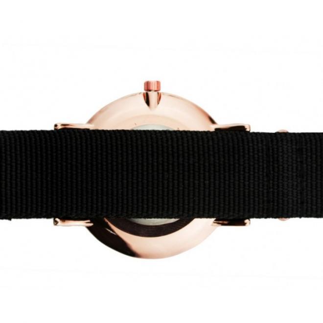 Dámské hodinky Classy na textilním pásku v růžové barvě