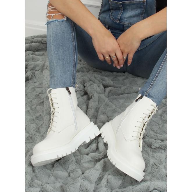 Bílé módní Workery s vysokou podrážkou pro dámy