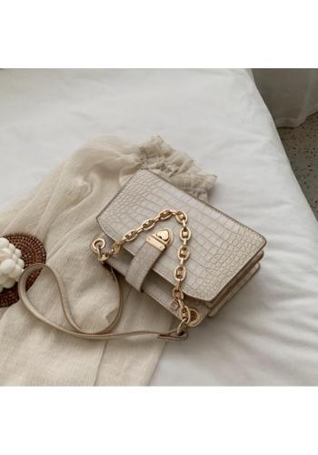 Elegantní dámská kabelka krémové barvy z ekokůže