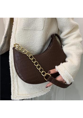Hnědá elegantní kabelka z ekokůže pro dámy