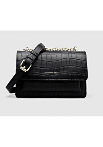 Dámské elegantní kabelky z ekokůže v černé barvě