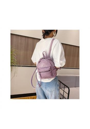 Elegantní dámský batoh růžové barvy z ekokůže