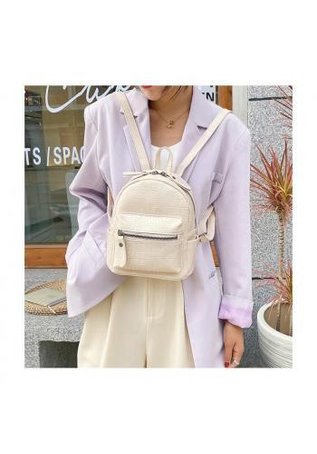 Bílý elegantní batoh z ekokůže pro dámy