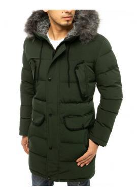 Zelená dlouhá bunda na zimu pro pány
