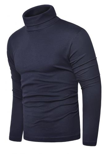 Bavlněný pánský rolák tmavě modré barvy ve výprodeji