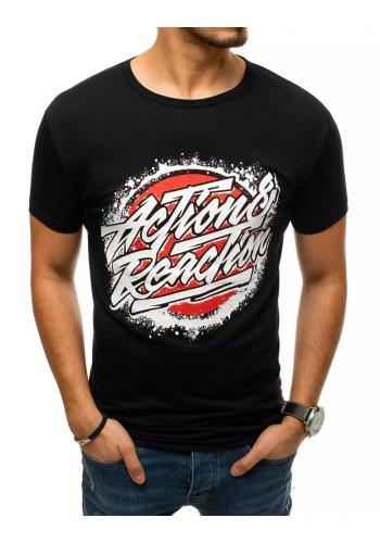 Pánské klasické trička s potiskem v černé barvě