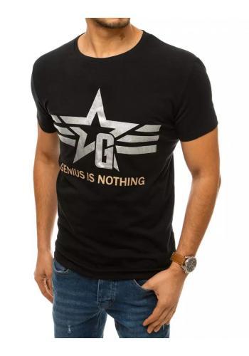 Černé stylové tričko s krátkým rukávem pro pány