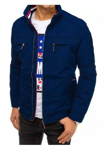 Pánská přechodná bunda v tmavě modré barvě