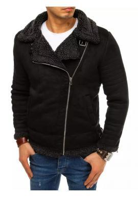Černá semišová bunda na zimu pro pány