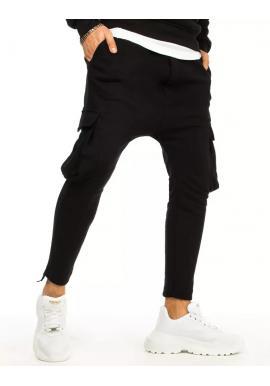 Pánské teplákové kapsáče v černé barvě